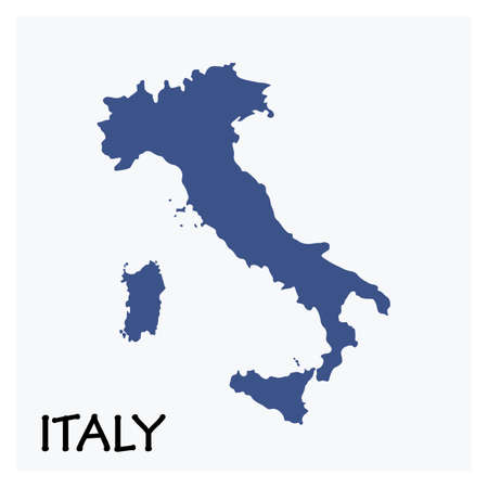 Map Of Italy. Abstract Design Vector Illustrations Ilustracja