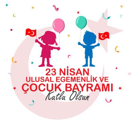 23 avril Conception de l'affiche de la souveraineté nationale et de l'enfance. Turc; Bonne conception de l'affiche de la souveraineté nationale et de la fête des enfants du 23 avril.