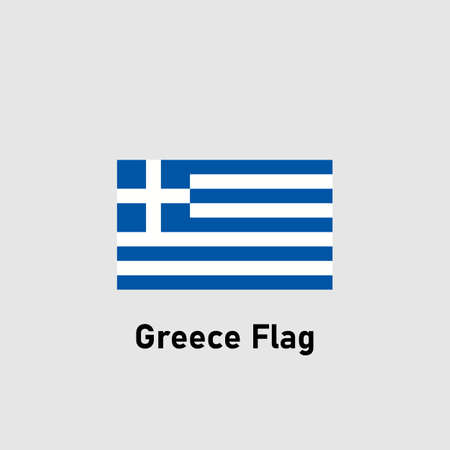 Flag of Greece. Isolated vector illustration.
