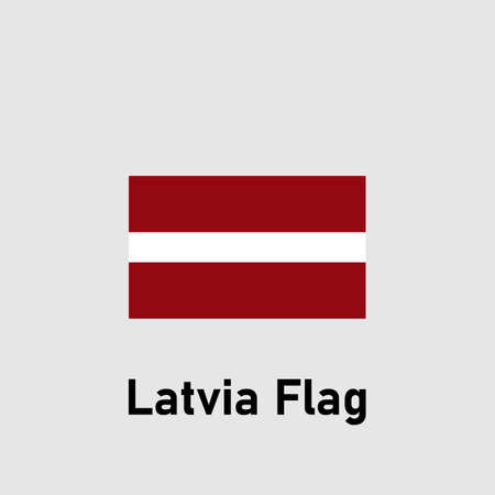 Flag of Latvia. isolated vector illustration.