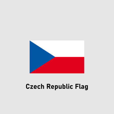 Flag of the Czech Republic. Isolated vector illustration.