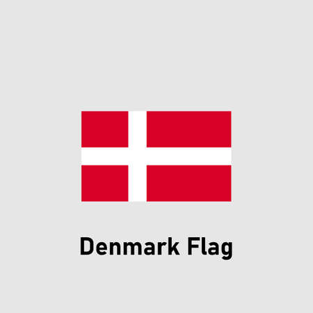 Denmark flag. Isolated vector illustration.