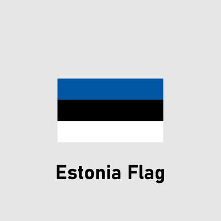 Estonian flag. Isolated vector illustration. 向量圖像