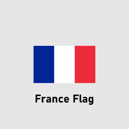 Flag of France. Isolated vector illustration.