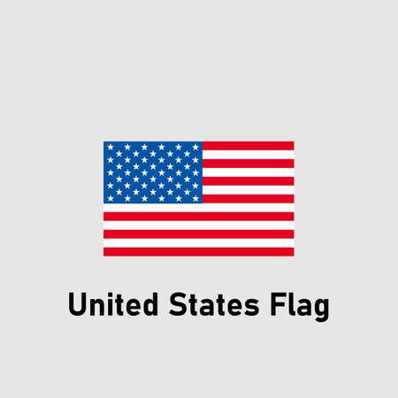 Bandera de EE.UU. Bandera de Estados Unidos. Ilustración de vector aislado.