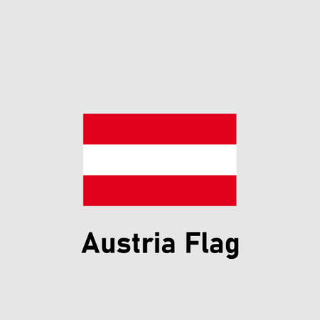 Austrian flag. Isolated vector illustration.