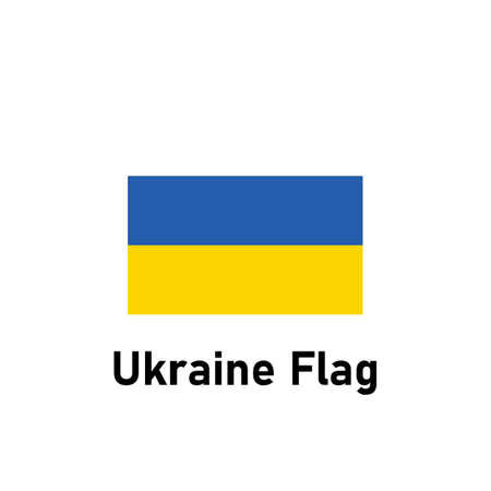 Ukraine Flag. Isolated vector illustration.