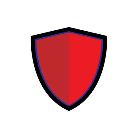 Shield icon. Isolated vector illustration. Pictogram for the concepts of security and protection.