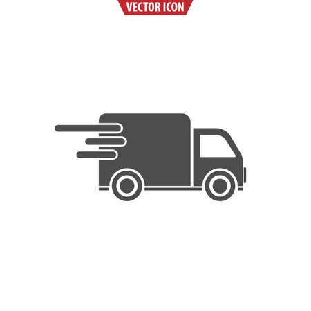 Fast shipping cargo truck icon. Isolated vector illustration for apps and websites. Ilustracja