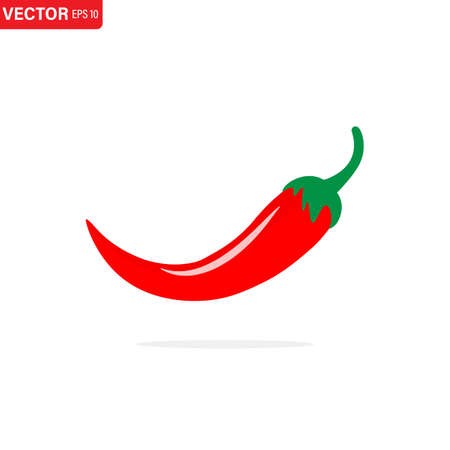 Jalapeno or chilli peppers symbol. Isolated vector illustration. Simple logo vector illustration for graphic and web design.