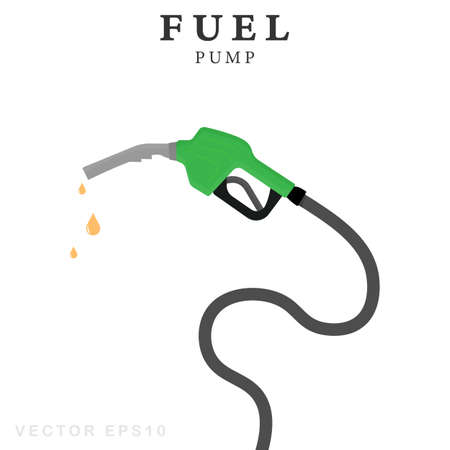 Fuel pump symbol. Isolated vector illustration.