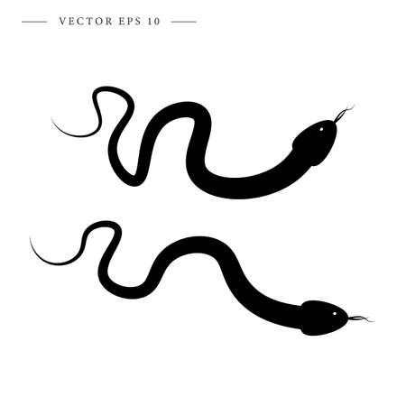 Snake icon. Isolated vector illustration.