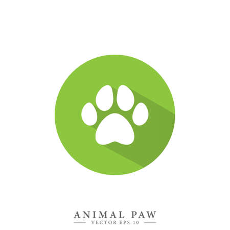 Animal paw print icon. Simple logo vector illustration for graphic and web design. Isolated vector illustration.