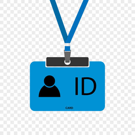 ID card vector in flat design. Drawing isolated on transparent background.