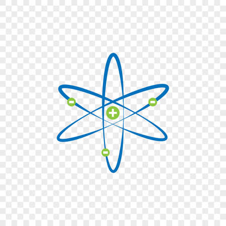 Atomic nucleus icon structure. Isolated vector design.  イラスト・ベクター素材