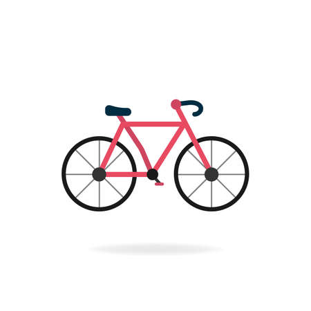 Colorful bike symbol. Isolated vector.