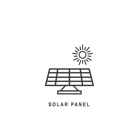 Solar energy panel icon. Isolated vector illustration.