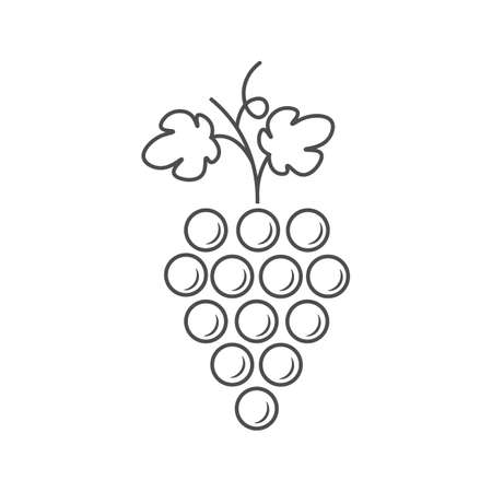 Grapes icon. Design modern isolated vector illustration.