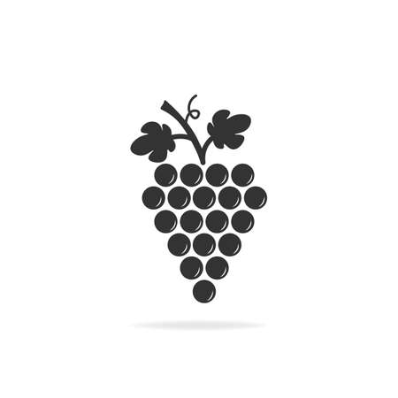 Grapes icon. Design modern vector illustration with shadow