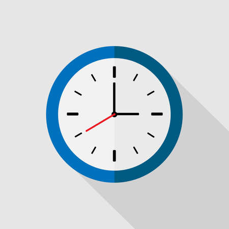 Clock flat icon. Editable element for logo, template web and print, deadline concept.