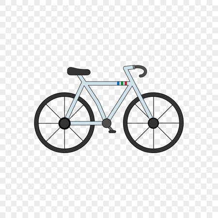 Colorful bicycle icon. Isolated vector illustration on transparent background.