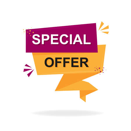 Special offer banner. Marketing background. Isolated vector illustration.