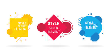 Set of geometric abstract modern graphic elements.