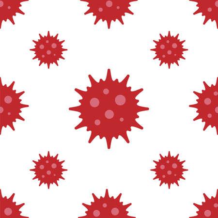 Virus seamless pattern. Coronavirus pandemic concept. Vector drawing.