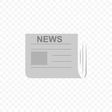 Newspaper press symbol. Journalism concept Vector illustration.