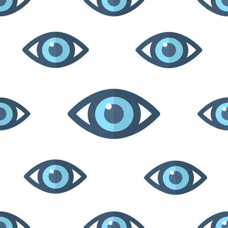 Eye pattern seamless vector design. Health science concept.