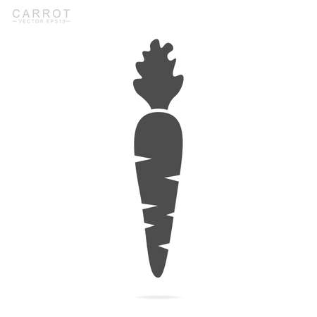 Carrot icon. Isolated vector illustration.