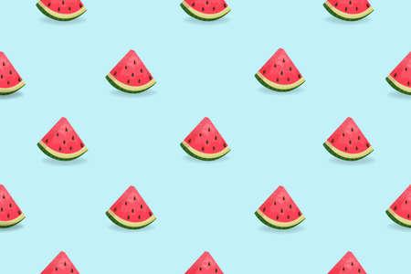 Watermelon slices seamless pattern. Trendy seamless summer pattern. Vector design
