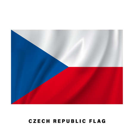 Czech republic flag waving. Realistic national flag vector design. isolated.