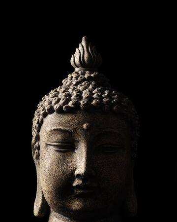buddha image: Close up image of Buddha with black background
