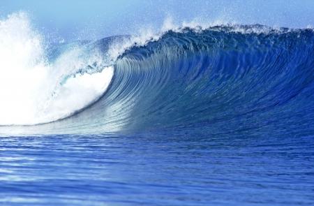 A beautiful and scenic wave break in Fiji                                Stock Photo