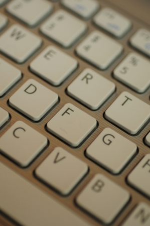 alphabet computer keyboard: close up of keyboard