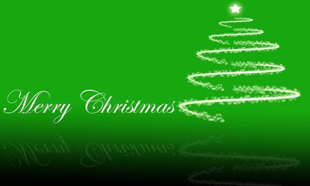 merry christmas text: Vacaciones de fondo abstracto con el texto �Feliz Navidad y brillante �rbol de Navidad con la reflexi�n Foto de archivo