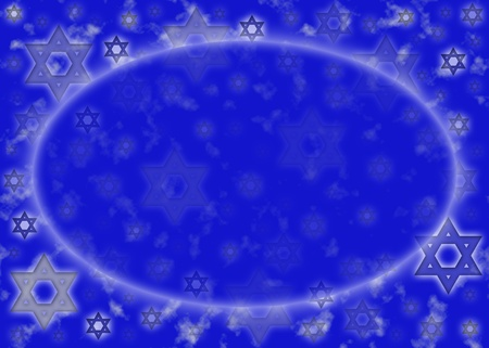 Background with Blue and silver Star of David  photo