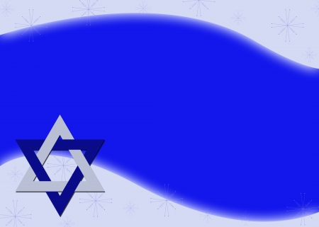 zionism: Hanukkah Background with Blue and silver Star of David