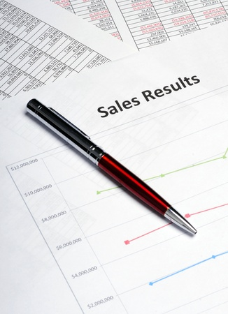 A business sales chart showing the sales results for marketing analysis photo