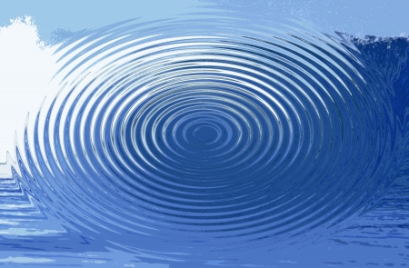 hues: Blue hues in a circular abstract background illustration