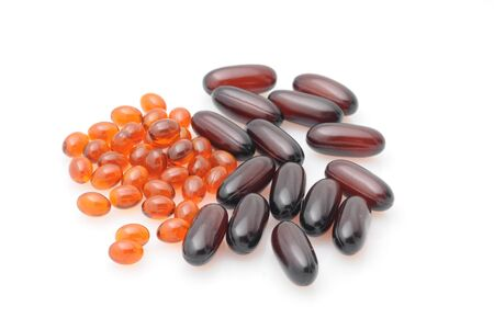 Omega 3 fatty acid capsule supplements photo