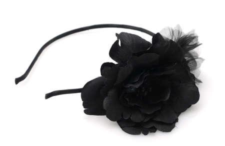 Zwarte bloem hoofdband mode-accessoire voor haar