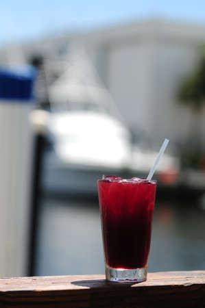 Sangria on a dock during summer Stok Fotoğraf