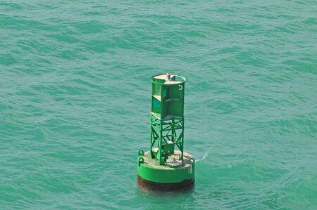 nautical buoy in ocean
