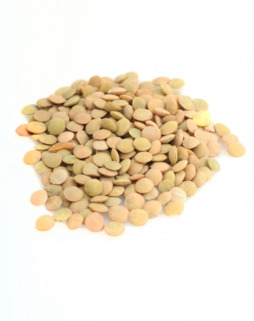 Lentils on a white background Stock Photo - 17709206