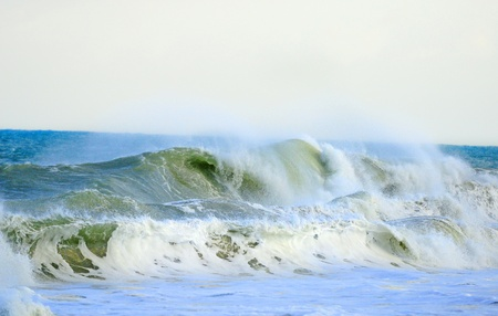 Ocean waves during tropical storm in florida