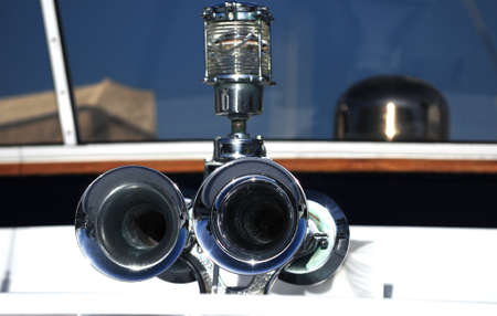 boat horn and light on a yacht