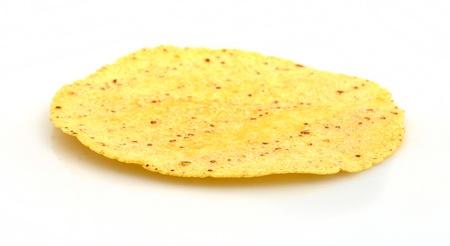 corn tortilla: Plain corn tortilla  Stock Photo