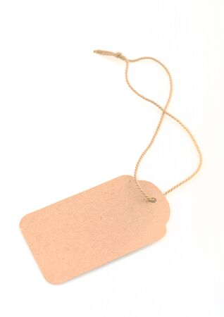 Blank recycled gift tag tied with string to write own message